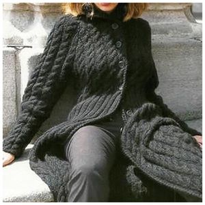 The CELES Hand Knit Long Sweater